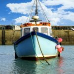 Commercial Fishing Boat in Water