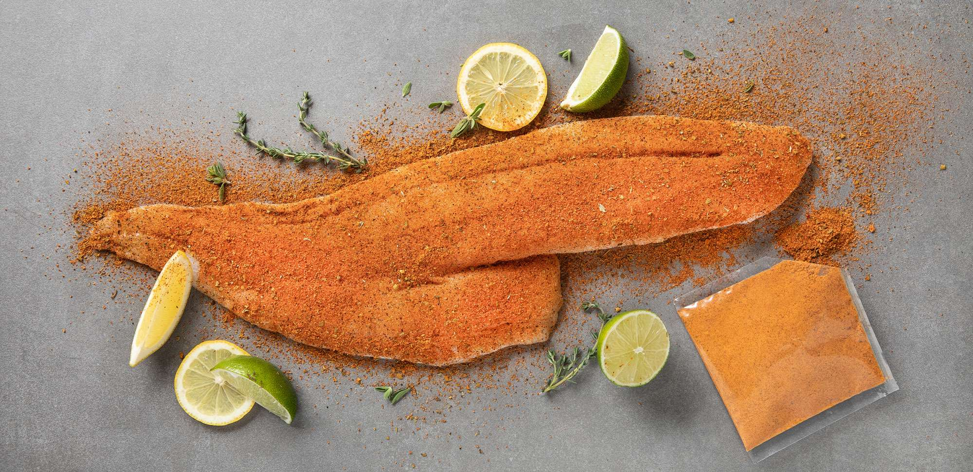 Dry rubbed cod