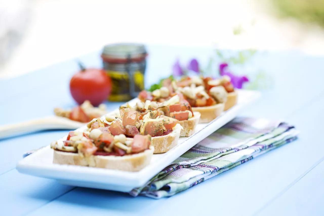 seafood bruchetta